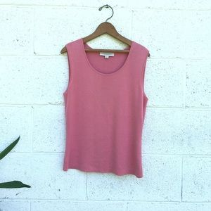 Ann Taylor Pink Silk Tank Top Medium
